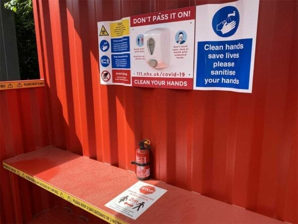 Hand Sanitation & Smoking Self Distancing Shelter