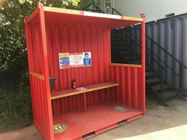 Hand Sanitation & Smoking Shelter