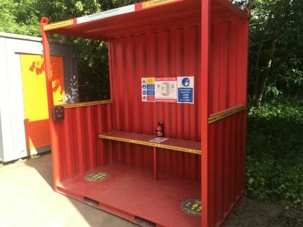 New 8ft X 4ft Hand Sanitation & Smoking Shelter
