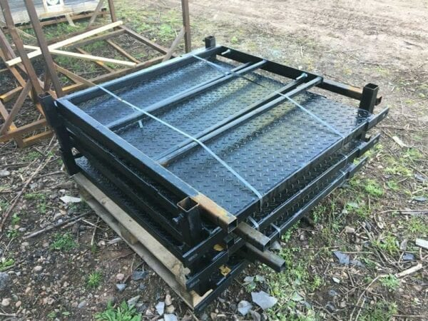 New 13 Tread Steel Staircase Packed