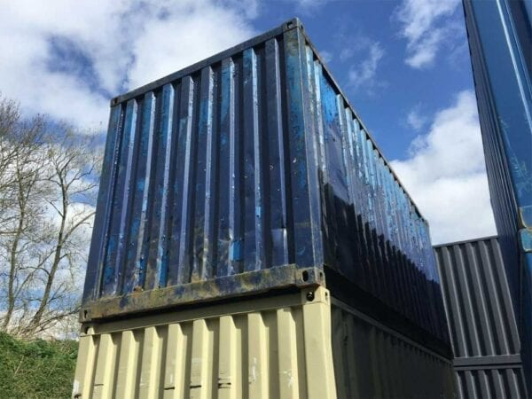 Used 20ft X 8ft Shipping Container Back View