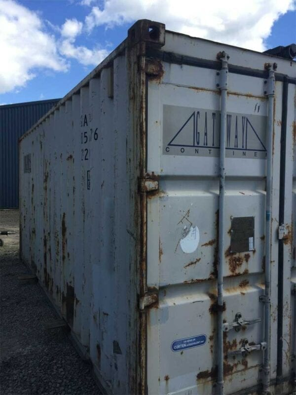Used 20ft X 8ft Shipping Container Side