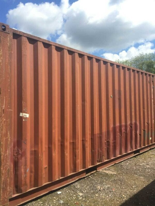 Used 20ft X 8ft Shipping Container Side View