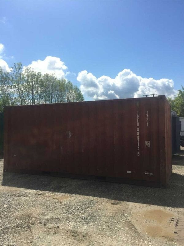 Used 20ft X 8ft Shipping Container Side Views